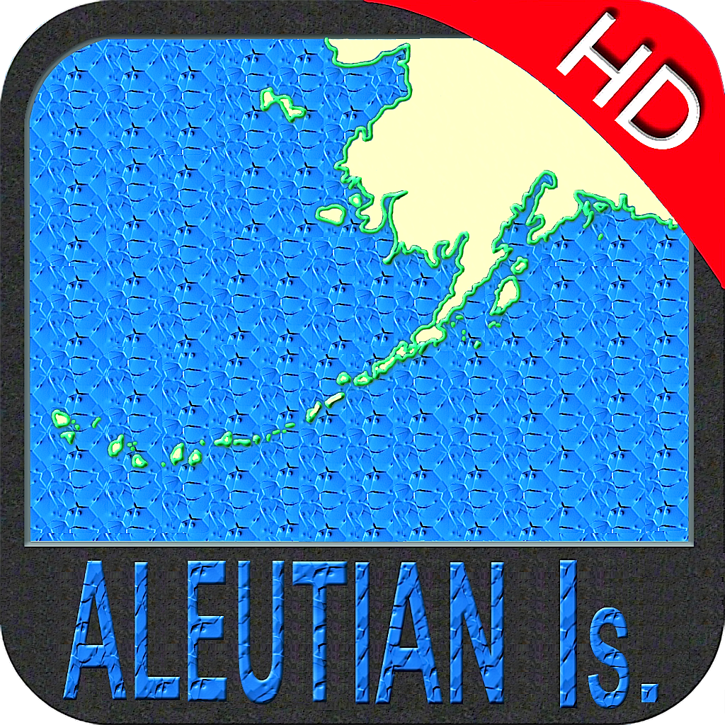 Aleutian Islands nautical chart HD